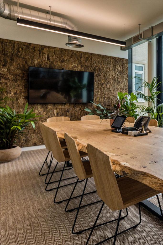 Bespoke boardroom table design for London based only travel agent Jacada