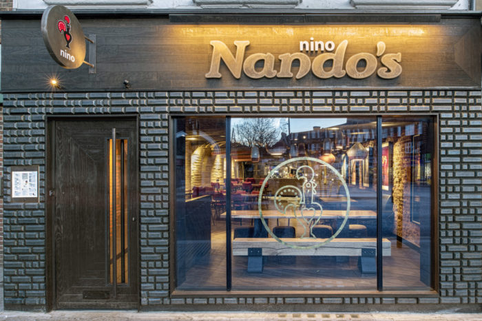 Nando's Nino Twickenham bespoke furniture by Forest & Maker