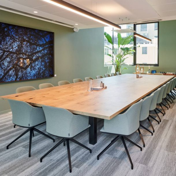Natural materials will form an integral part of the post-pandemic workplace. Here's why bespoke solid timber office furniture is the one